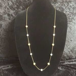 Jewelry - Golden pearl beaded chain r012